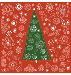 Christmas-tree vector image