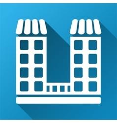 Company building gradient square icon vector