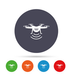 Drone icon quadrocopter symbol vector
