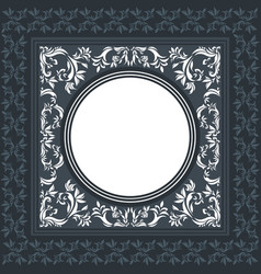 elegant frame with classic ornament vector image vector image