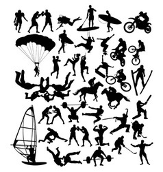 Extreme Sport Set Silhouette vector image vector image