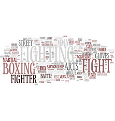 Fighting word cloud concept vector