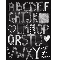 Hand Drawn Chalk Letters vector image vector image