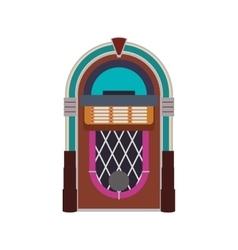 Jukebox technology retro vintage icon vector