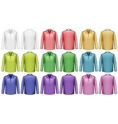 Long sleeves shirt vector image vector image
