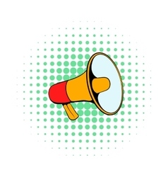 Megaphone icon in comics style vector image vector image