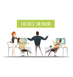 office humor cartoon style vector image