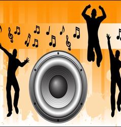 Orange music background vector