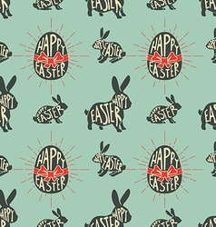 Seamless pattern with easter rabbits vector