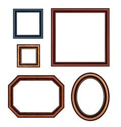Set of vintage brown picture frames vector image