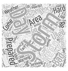 Storm emergency preparation word cloud concept vector