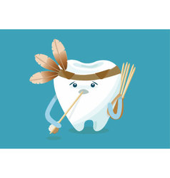 Toothpick of indian vector image vector image