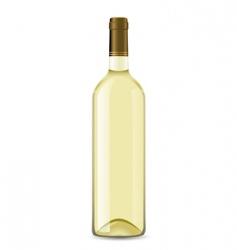 white wine bottle vector image vector image