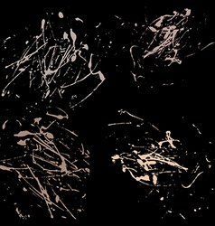 Pastel splatter paint abstract black background vector
