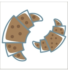 Croissant line icon vector