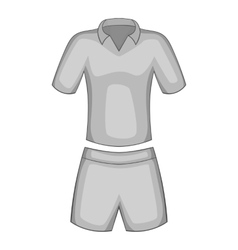Men tennis uniforms icon gray monochrome style vector
