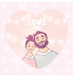 happy couple in heart vector image