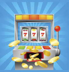 Slot fruit machine winning vector