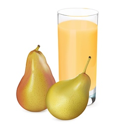 Pears juice1 vector
