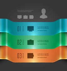 Modern infographics 3d banners chart diagram vector