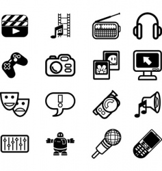 media icons vector image