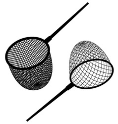 Fishing net black icon vector