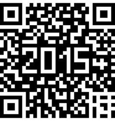 background with Christmas QR-code vector image