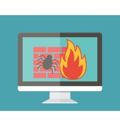 Internet security firewall and virus protection vector