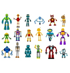 Cyborgs robots and aliens set vector