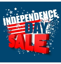 4th of july sale background vector