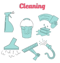 Cleaning icons flat modern style icon vector