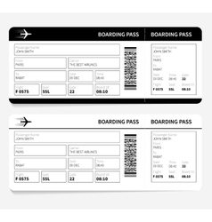 Black boarding pass vector