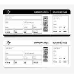 black boarding pass vector image