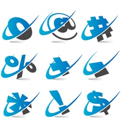 Wwoosh Symbol Logo Icons vector image