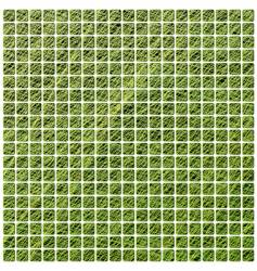 green mosaic vector image