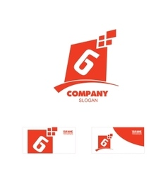 Letter g or number 6 six logo icon vector