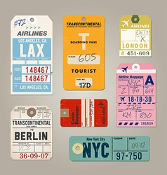 Vintage Luggage Tags 02 vector image