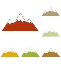 Mountain sign vector