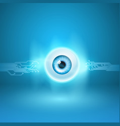 Abstract background with eye and circuit vector