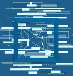 Abstract geometric frame square vector