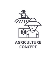 agriculture concept line icon outline sign vector image