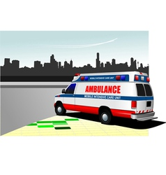 al 0219 ambulance vector image