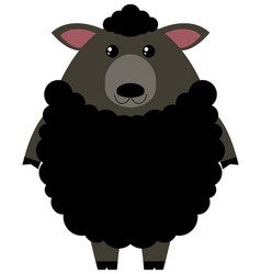 Black sheep on white background vector