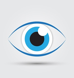 blue eye2 vector image vector image