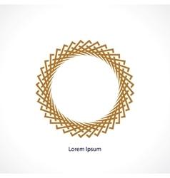 circle monogram vector image vector image