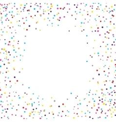 Confetti Frame vector image vector image