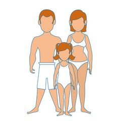 couple wearing swimsuit icon vector image