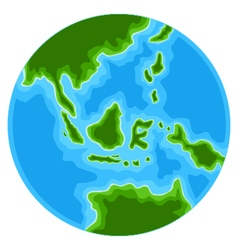 Cute globe cartoon vector