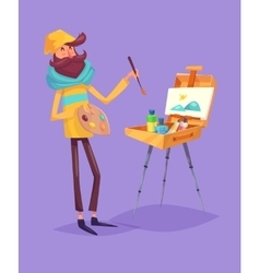Funny artist character Isolated vector image