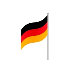 Germany flag isometric 3d icon vector image vector image